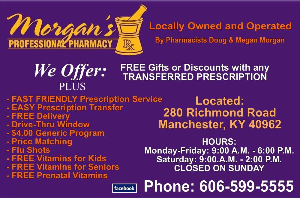 Click here for Morgan's Professional Pharmacy Facebook page