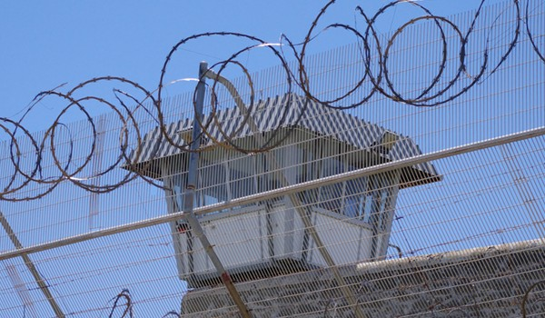 Prison fence guard tower 600